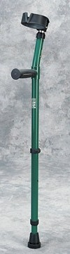 picture of walk easy green forearm crutch